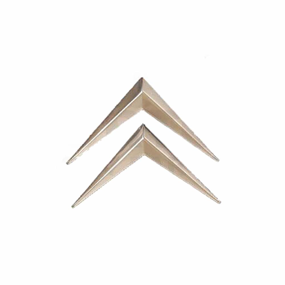 Chevron emblem chrome, for plastic grille 1974->