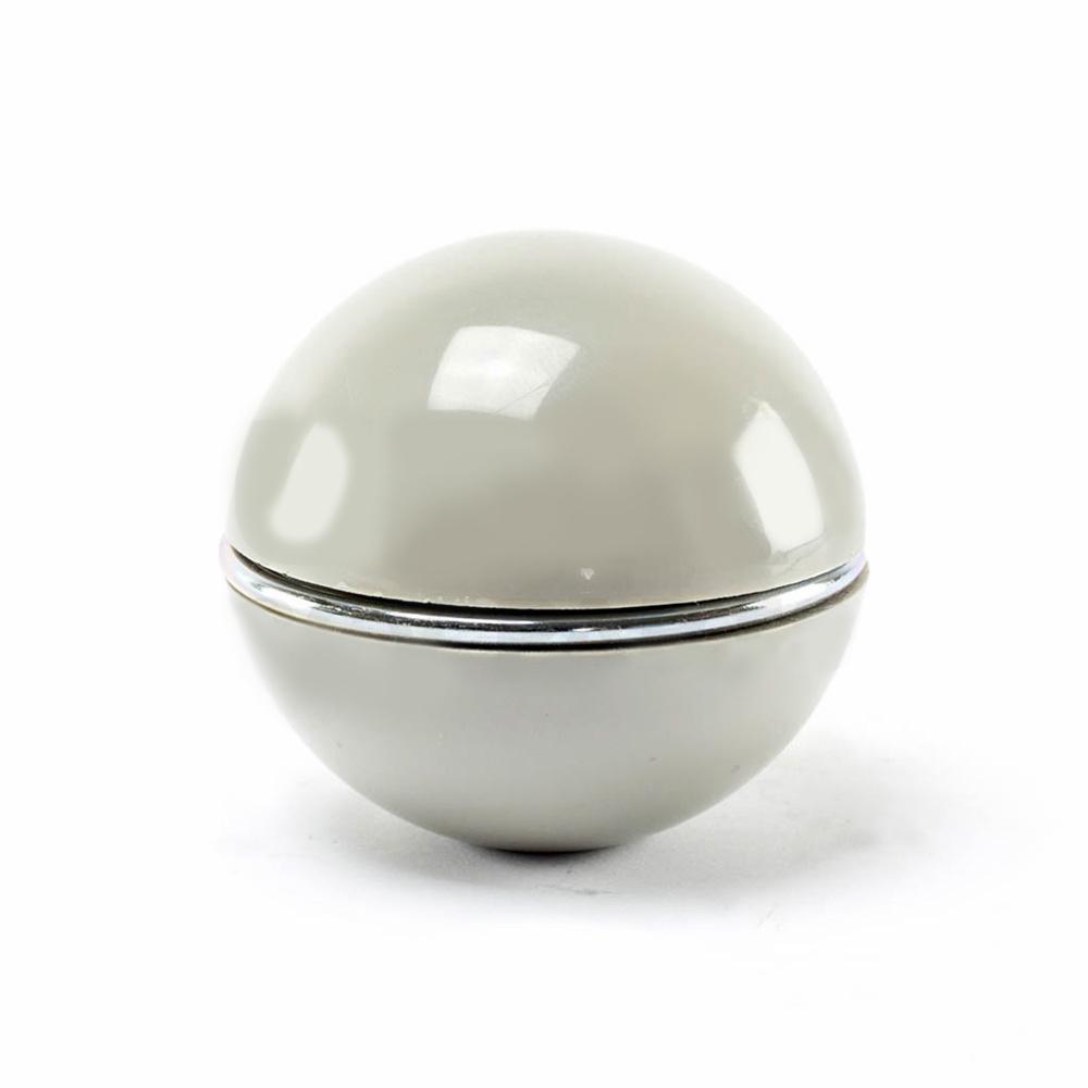 Schakelpookknop plastic, grijs met chrome ring