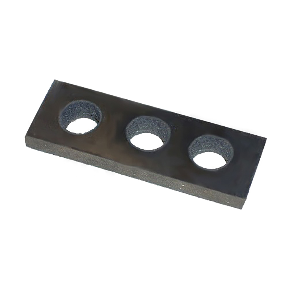 Rubber for steering rack, with hole for grease nipple