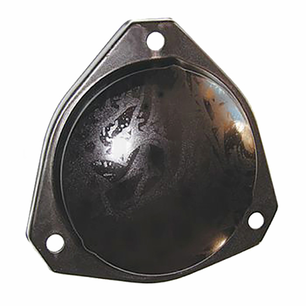 Metal cover for friction shock absorber
