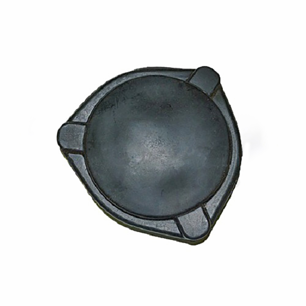 Rubber cover for friction shock absorber