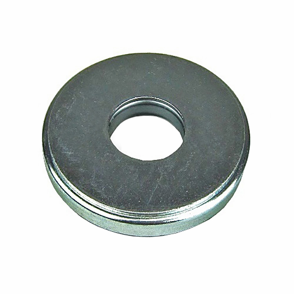 Steel backing for suspension cylinder bump stop