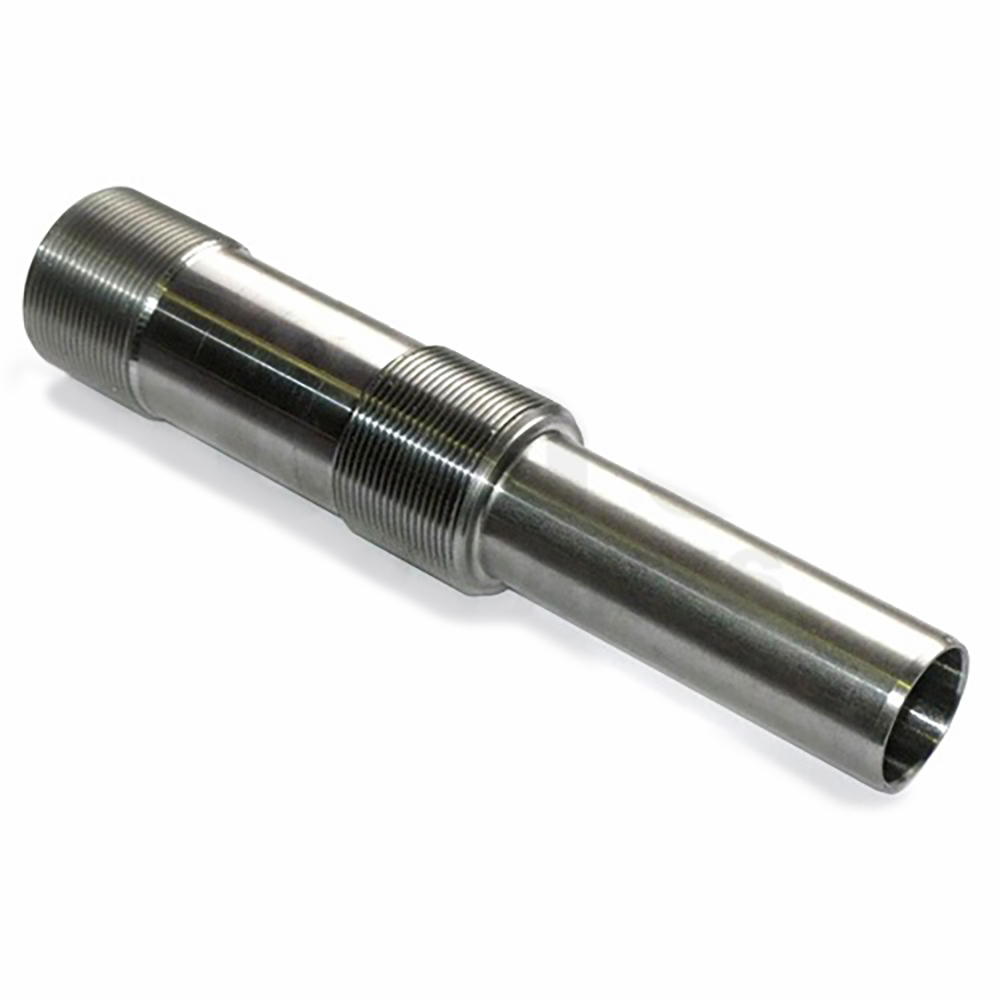 Threaded pipe for suspension cylinder, stainless steel