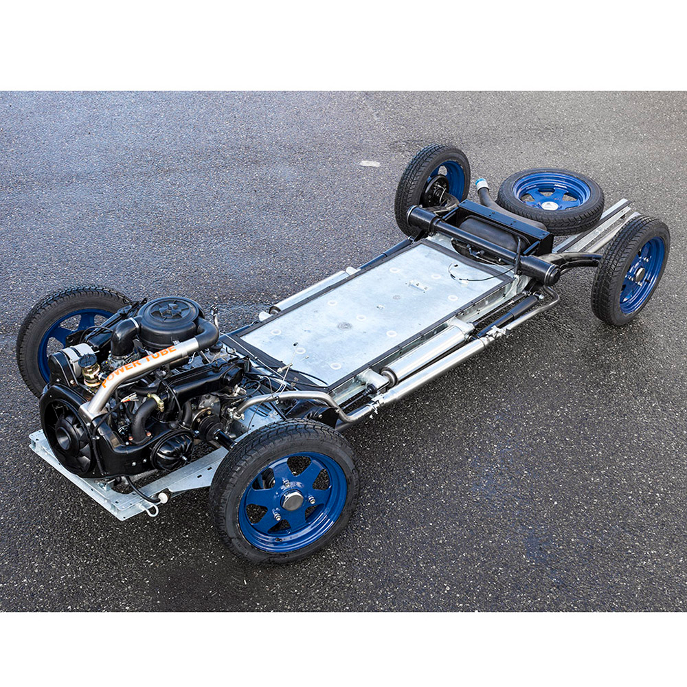 Completely reconditioned chassis for Citroen 2CV of Burton