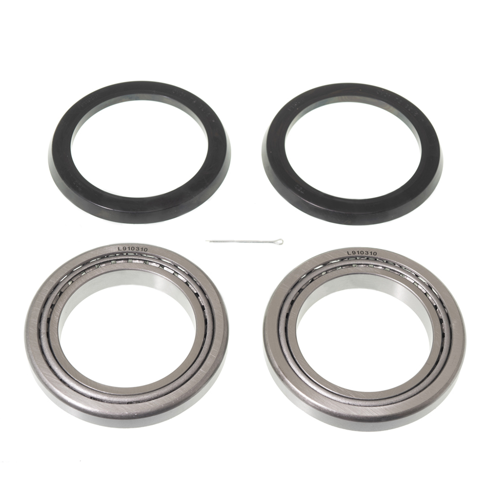 Suspension arm bearing set, for one swing arm