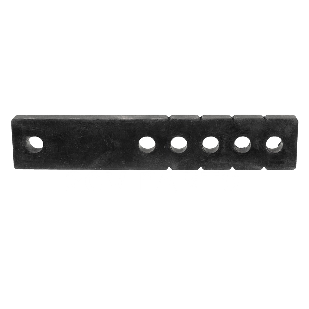 Rubber strap for tailpipe, adjustable