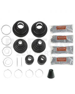 Driveshaft gaiter kit complete, neoprene rubber