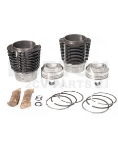 Barrel and piston set Big Bore 2CV6 652cc 9:1 Ø77mm